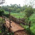 Eine tolle Brücke auf dem Weg von Gathiga nach Kihara