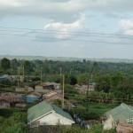 Blick über ein Wohnviertel in Kihara