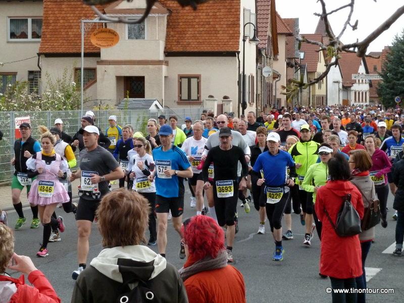 Marathon Deutsche Weinstraße 2012 - Start in Bockenheim