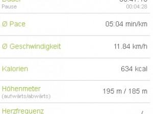 Joggingtour am 07.04.2012 Nähe Alteburg (Arnstadt)