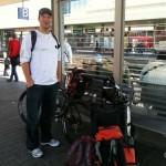 Transalp 2011 | Mit jeder Menge Gepäck am Bahnhof Mannheim