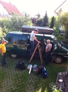 Transalp 2011 | Beim Verstauen vom Gepäck