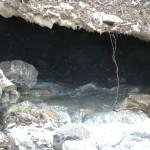 Oberstdorf 2012: Überall hat das Wasser die Schnee- und Eisdecke unterspült