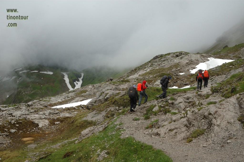 Oberstdorf 2012: schlechtes Wetter - wir starten zum Heilbronner Weg