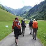 Obersdorf 2012: die letzten asphaltierten Meter bei bei Spielmannsau