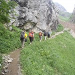Oberstdorf 2012: schön hintereinander hinauf zur Kemptner Hütte