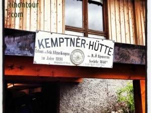 Oberstdorf 2012: Schild an der Kemptner Hütte