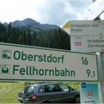 Transalp 2011 | Tag 01: Schild von Oberstdorf zur Fellhornbahn