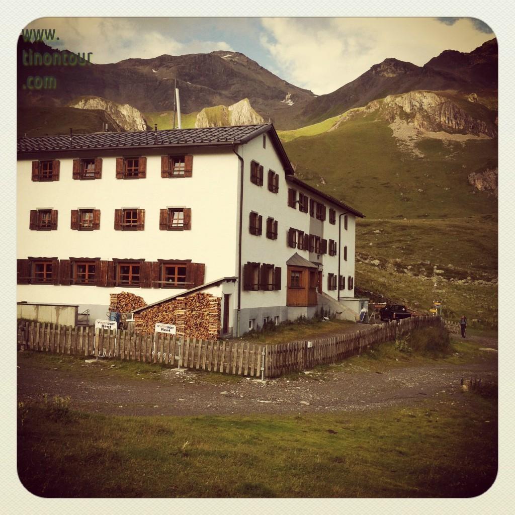 Seitenansicht der Heidelberger Hütte