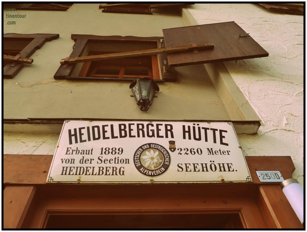 Schild von der Heidelberger Hütte