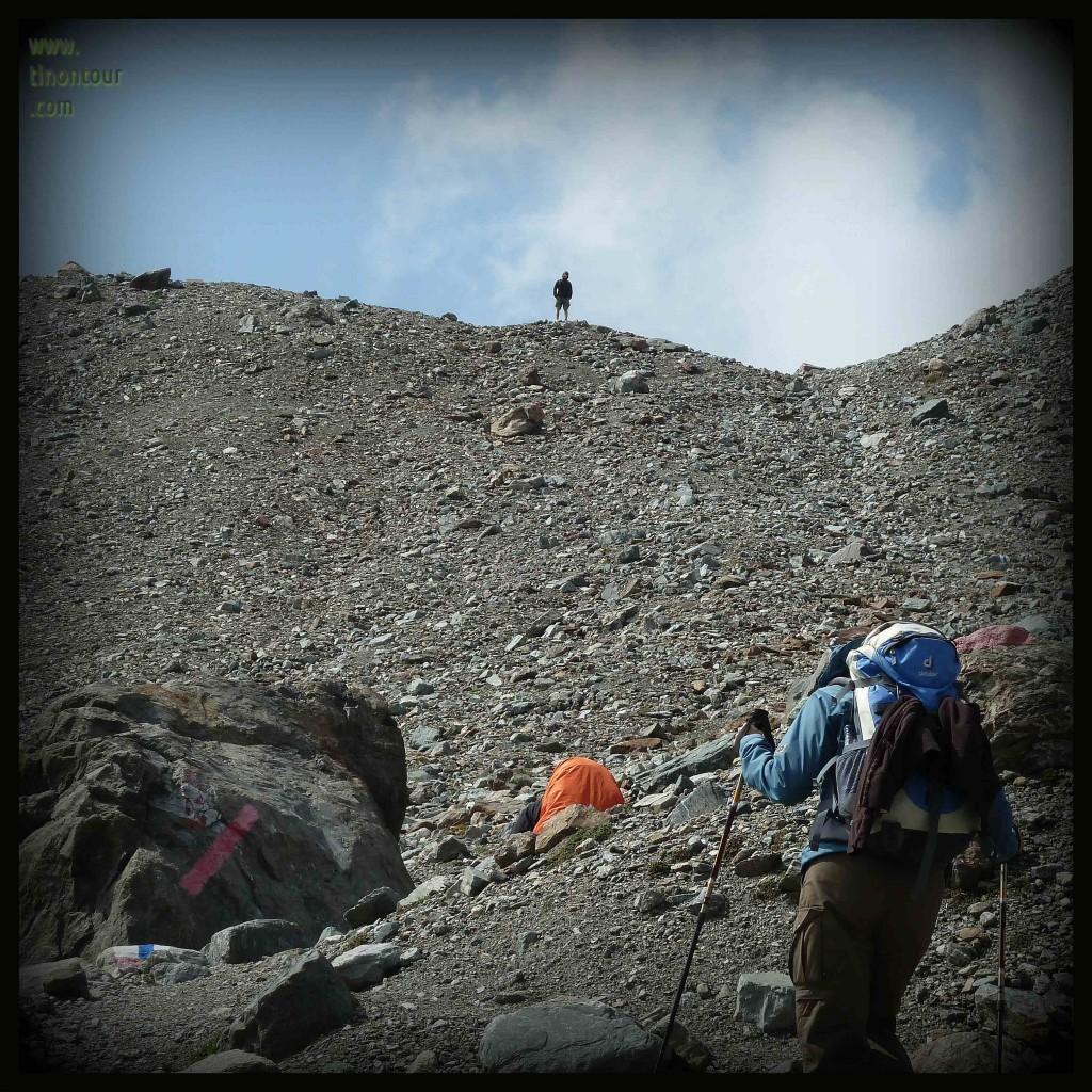 Die scheinbar letzten Meter bis zum Gipfel