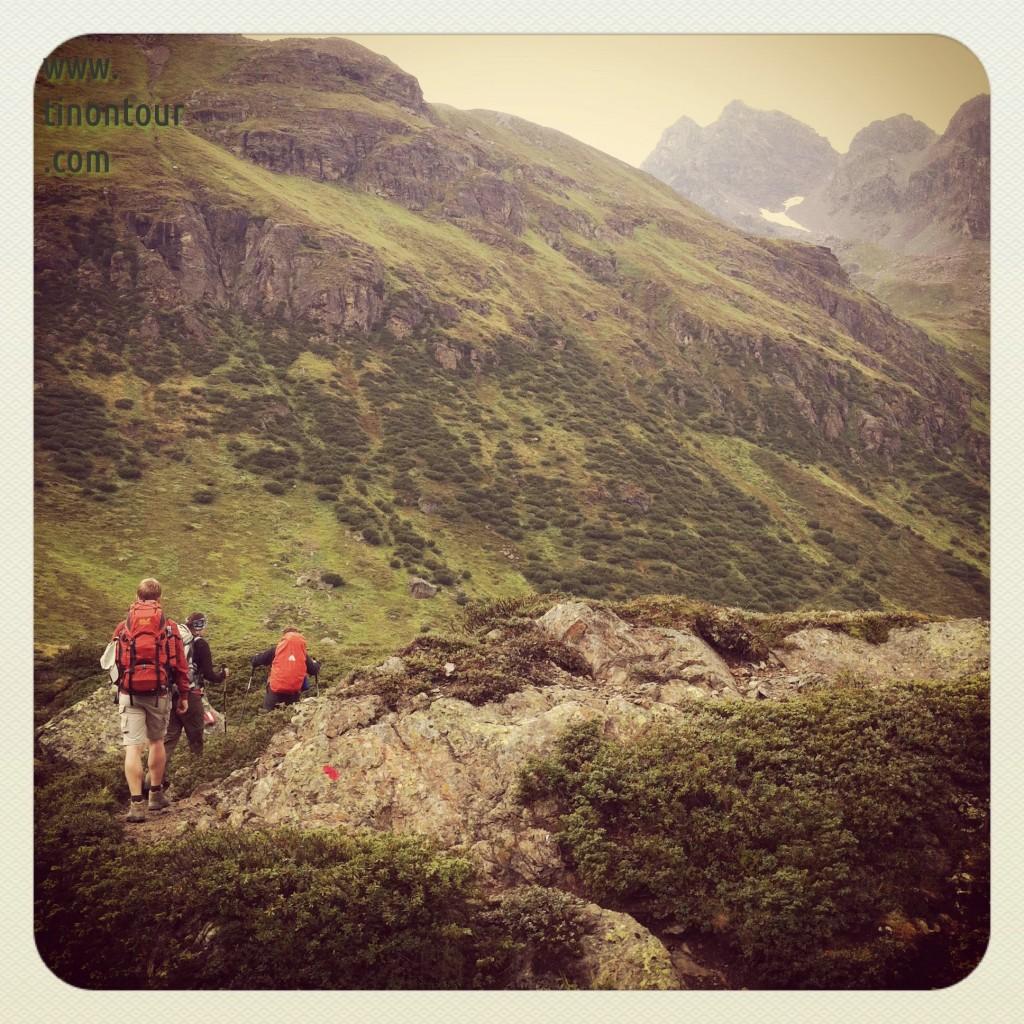 Abstieg von der Jamtalhütte