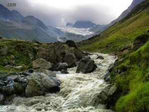 Bach / Fluss im Jamtal (Jambach)