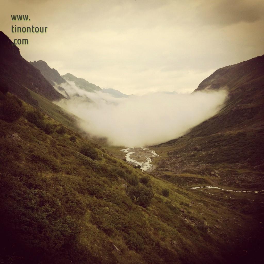 Das Jamtal im Nebel