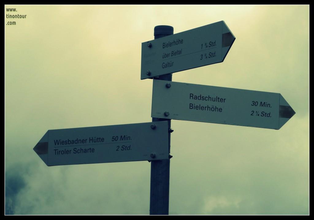 Noch 50min zur Wiesbadener Hütte