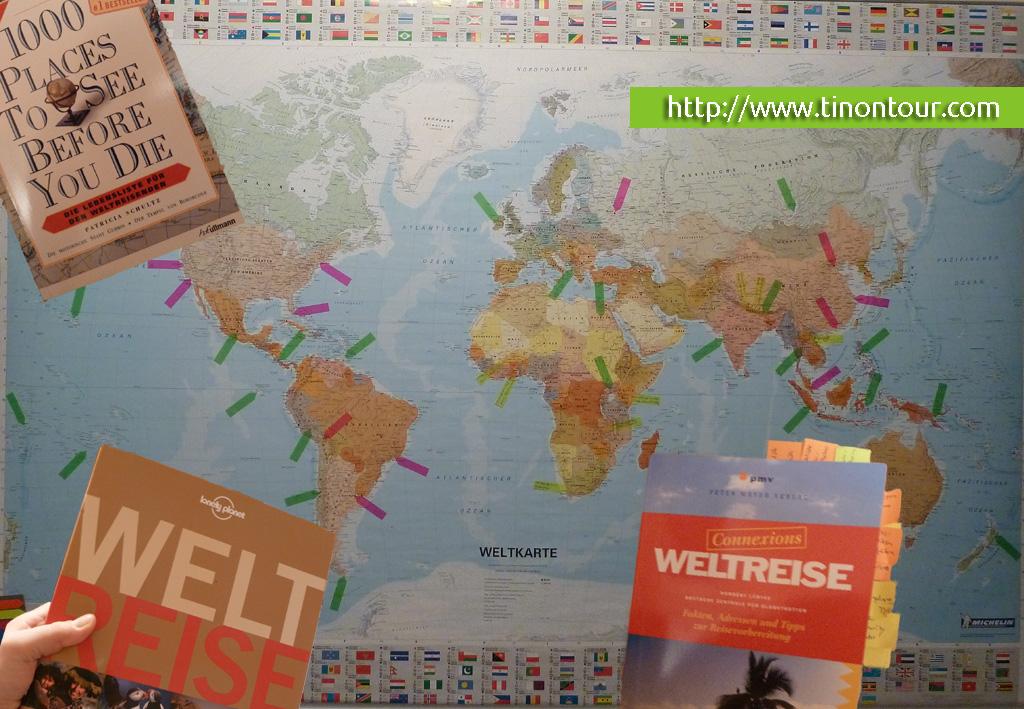 Weltreise 2013 - Tino geht on tour