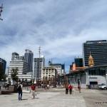 Skyline von Auckland vom Hafen aus