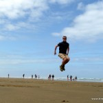 Tino jump on the Beach