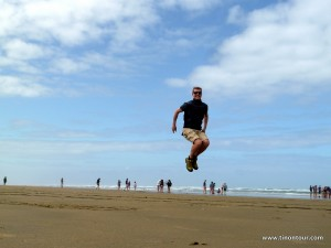 Tino jump on the Beach