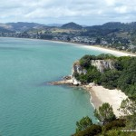 Cooks Bay und Lonely Bay vom Shakespeare's Lookout aus fotografiert
