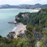 Lonely Bay und Cooky Bay vom Shakespeare's Lookout aus fotografiert