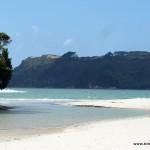 Zulauf zum Meer am Anfang (oder Ende) der Cooks Bay