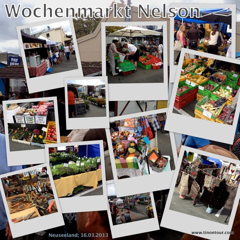 Wochenmarkt in Nelson