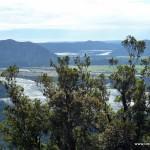Blick ins Tal zu Fuße des Franz Josef Gletschers