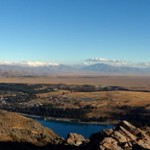 Panoramabild Lake Tekapo / Lake Pukaki
