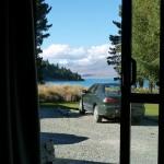 Blick von meinem Bett im Hostel am Lake Tekapo