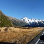 Auf dem Weg zum Mt. Cook