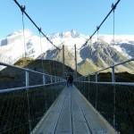 Hängebrücke auf dem Weg zum Mt. Cook