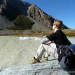 Entspannung pur am Gletschersee am Mt. Cook