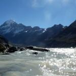 Gletschersee und der Mt. Cook