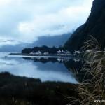 Milford Sound in den frühen Morgenstunden