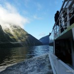 Unser Boot entlang des Milford Sounds