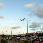 Flugzeug bei Landung in Puerto Princesa