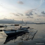 Boot im Sonnenuntergang bei Puerto Princesa