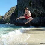 Sprung / Jump am Strand