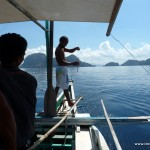Bootsmann als Fischer