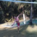 Tino beim Badminton
