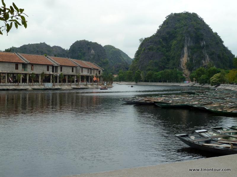 Bootsanlegestelle in Tam Coc