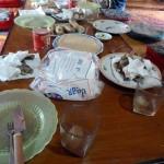Frühstück am ersten Tag