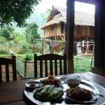 Blick vom Frühstückstisch auf unsere Übernachtung