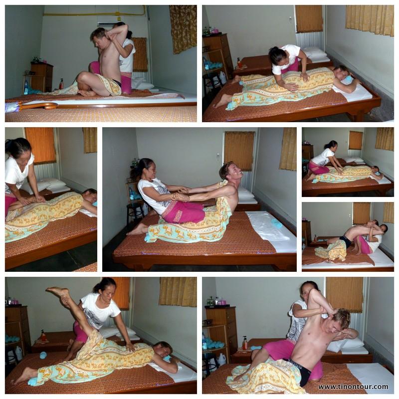 Ein zweifelhaftes Vergnügen: eine Thai-Massage in Thailand. Größtenteils überraschenderweise recht angenehm, jedoch bei einigen Stellungen oder eher Verrenkungen sehr schmerzhaft.