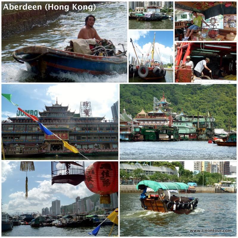 Impressionen von der schwimmenden Stadt Aberdeen in Hong Kong
