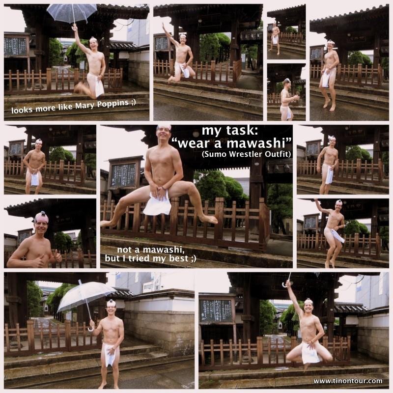Es ist zwar nicht ein Original Mawashi (das Outfit der Sumo Wrestler), aber ich habe versucht mein Bestes zu geben. Definitiv brauch ich aber mehr Sonne und wieder etwas Training ;)