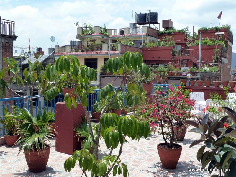Ein Lichtblick im Hostel: die Dachterrasse