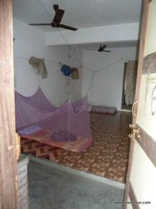 Mein Zimmer oder eher mein kleiner Schlafsaal im koreanischen Tempel; Schlafbereich