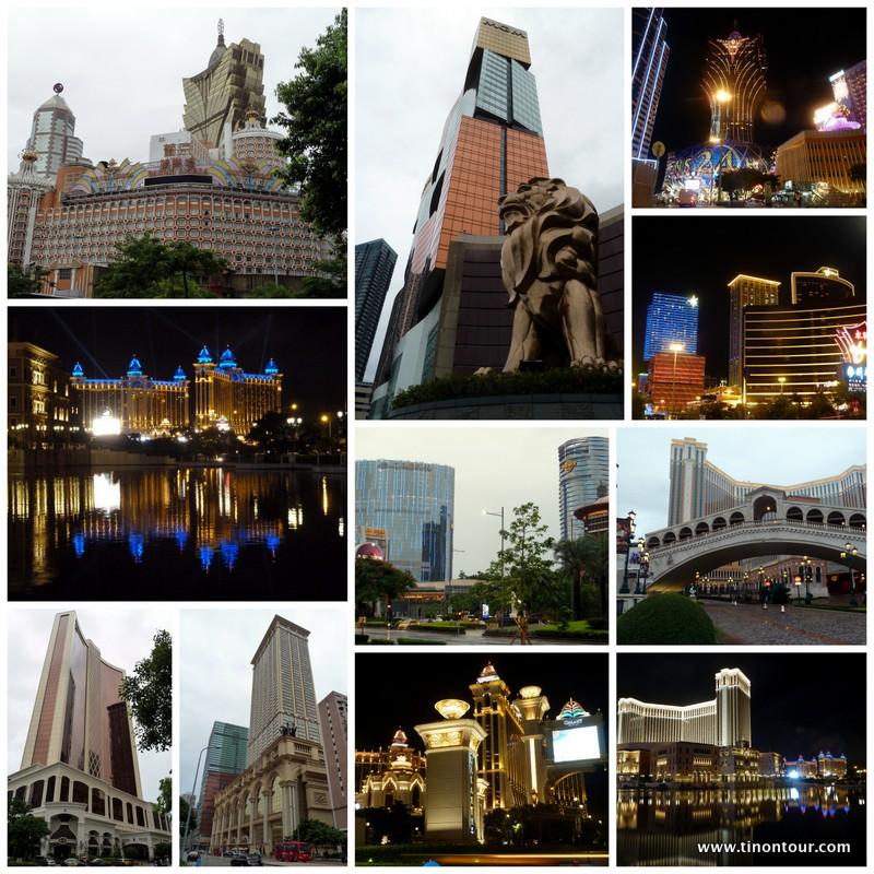 Diverse Casionokomplexe mit Hotels, Einkaufsmöglichkeiten, Entertainment und Restaurants in Macau / Macao